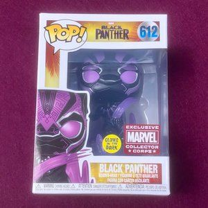 Funko Pop Marvel Coll Corps Exc Black Panther #612